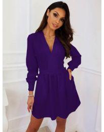 Кокетна рокля в лилав цвят - код 089