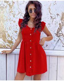 Свободна изчистена рокля в червено - код 3033