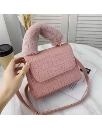 Дамска чанта в цвят пудра - код B57