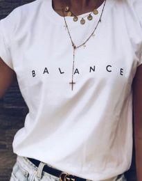Бяла дамска тениска BALANCE - код 3618