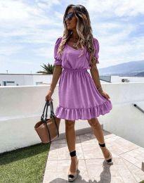 Кокетна рокля в лилаво - код 6460