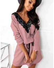 Свободна рокля в розово - код 5111