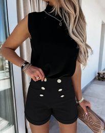 Къси панталонки в черно - код 6815