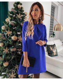 Екстравагантна рокля в синьо - код 1042