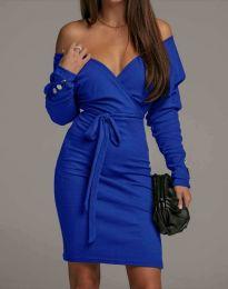 Дамска рокля в синьо - код 4765