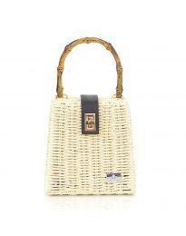Дамска чанта в бежово - код 11551-3