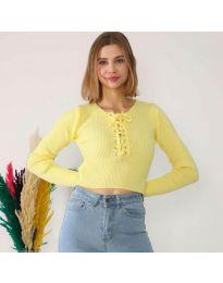Дамска блуза в жълто - код 6365