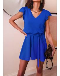 Изчистена рокля в  тъмно синьо - код 5551
