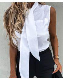 Елегантна дамска риза в бяло - код 5531