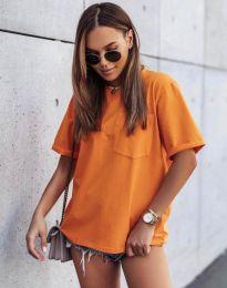 Изчистена тениска в оранжево - код 11953