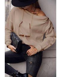 Дамска блуза в бежово - код 4640