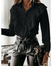 Дамска риза в черно - код 9032