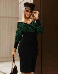 Стилна дамска рокля - код 8296 - 5