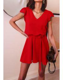Изчистена рокля в  червено - код 5551