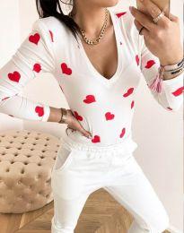 Дамска блуза с атрактивен десен - код 11633 - 10