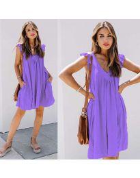 Свободна изчистена рокля в лилаво - код 5090