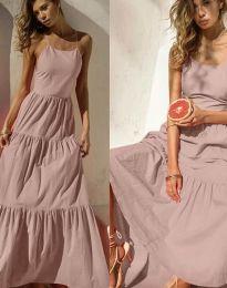 Феерична рокля в цвят пудра - код 2991
