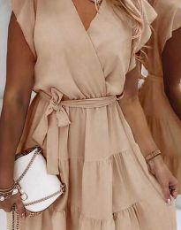 Дамска рокля в бежово - код 2345