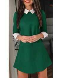 Елегантна рокля в зелен цвят - код 771