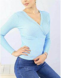Дамска блуза в светло синьо - код 6455