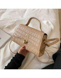 Елегантна дамска чанта в капучино - код B529