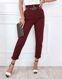 Елегантен дамски панталон в бордо - код 4655