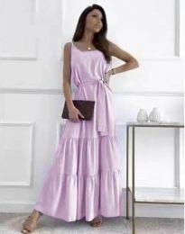 Дълга дамска рокля в лилав - код 2578