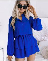 Дамска рокля в синьо - код 4093
