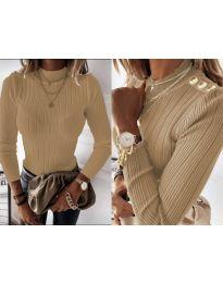 Дамска блуза в бежово - код 9930