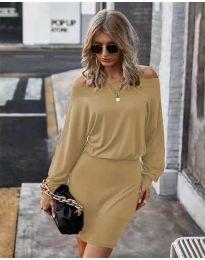 Дамска рокля в кафяво - код 4447