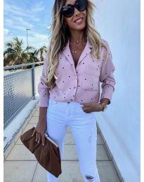 Дамска риза в розово - код 8050