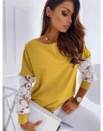 Елегантна дамска блуза в цвят горчица - код 4426