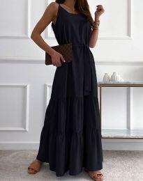 Дълга дамска рокля в черно - код 2578