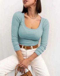 Изчистена блуза в цвят мента - код 11662