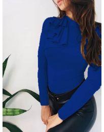 Атрактивна дамска блуза в синьо - код 7987