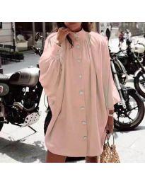 Свободна рокля в розово - код 0899