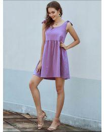 Изчистена рокля в лилаво - код 2255