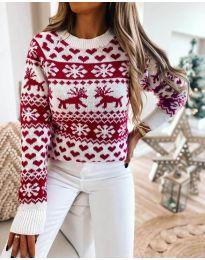 Дамски пуловер със зимен десен - код 2725 - 5