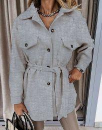 Дамско палто в сиво - код 4966