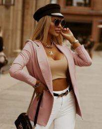 Дамско сако в цвят пудра - код 2461