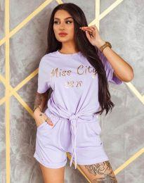 Атрактивен дамски комплект в лилаво - код 4652
