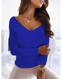 Екстравагантна дамска блуза в синьо - код 0308
