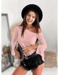 Дамска блуза в розово - код 8353