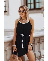 Изчистена рокля в черно - код 8800
