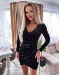 Стилна дамска рокля в черно - код 3872