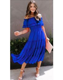 Феерична рокля в тъмно синьо - код 699