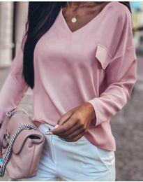 Дамска блуза в розово - код 0802