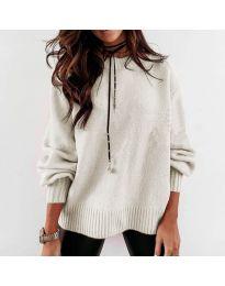 Дамски пуловер в бежово - код 3345