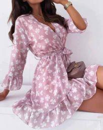 Дамска рокля с флорален десен - код 2865 - 4