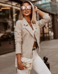 Елегантно дамско яке в цвят шампанско - код 7759